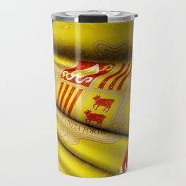 Grunge sticker of Andorra flag Travel Mug