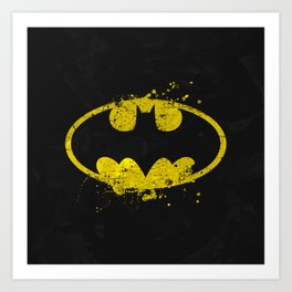 Bat man's Splash Art Print