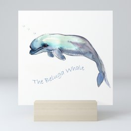 The Beluga Whale Mini Art Print