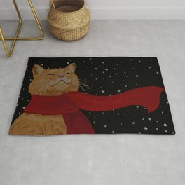 Knitted Wintercat Rug