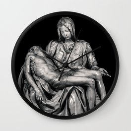 Michealangelo Masterpiece La Pieta Sculpture Wall Clock