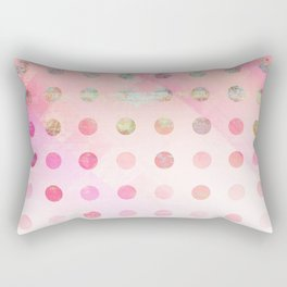 Pink Pastel Grunge Polka Dots Rectangular Pillow