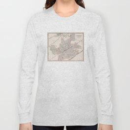 Vintage Map of Birmingham Alabama (1901) Long Sleeve T-shirt
