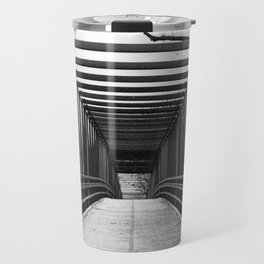 Bridge to Nowhere Black and White Photography Travel Mug