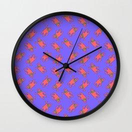 Swishy Pattern Wall Clock
