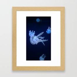 Floating in The Blue Framed Art Print