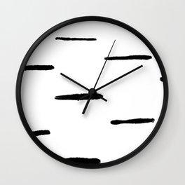 Indu Black and White Wall Clock
