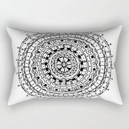Circles Pattern Rectangular Pillow