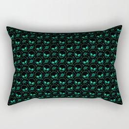 Alien and UFO Pattern Rectangular Pillow