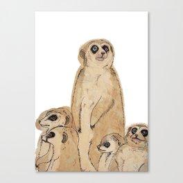 Meerkat Mother Canvas Print