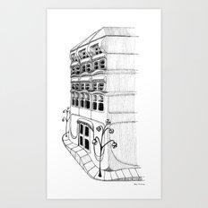 Art Nouveau Facade Art Print