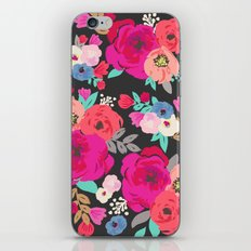 Sweet Pea Floral Black Bright Color iPhone & iPod Skin