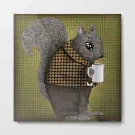 An Early Morning For Mister Squirrel Metal Print