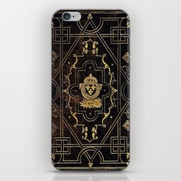 Leather and Gold iPhone Skin