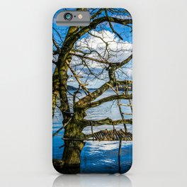 Real Life Ladders Game At Möhne Reservoir Lake iPhone Case