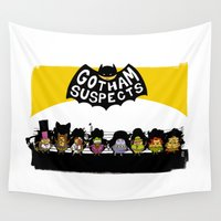 gotham Wall Tapestries featuring UNUSUAL SUSPECTS : Gotham by SimonCARUSO.com