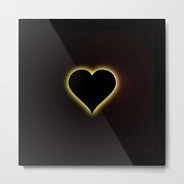 Valentines Night Sky Total Eclipse Of The Heart Metal Print