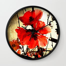 Spring Red 3, Royal Botanical Gardens - Melbourne Wall Clock