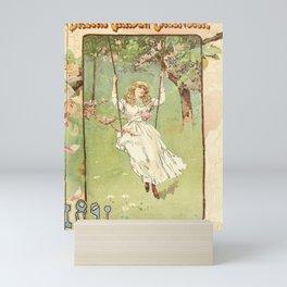 garden 068 Young woman on seesaw  girl13 Mini Art Print