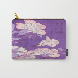 Japanese FLowers Purple Pink Carry-All Pouch