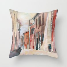 Italy, watercolor Throw Pillow