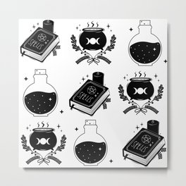 witch craft items pattern Metal Print