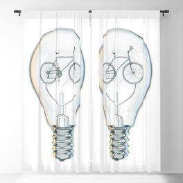 Light Bicycle Bulb Blackout Curtain