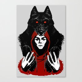 red ridin' hood Canvas Print