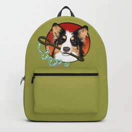 Olive Cardigan Corgi Backpack