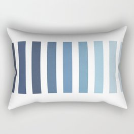 Sky and Water Blue Palette Rectangular Pillow