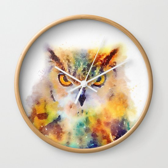 The Wise - Owl Wall Clock