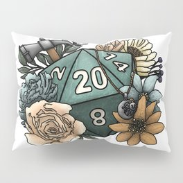 Cleric Class D20 - Tabletop Gaming Dice Pillow Sham