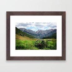 Wagon Wheel Framed Art Print