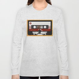 The cassette tape cat Long Sleeve T-shirt