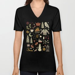 Winter Nights Unisex V-Neck