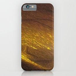 Sunburst through the Autumn Trees by the River landscape by H. Joiner iPhone Case