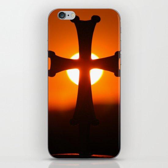 Sunset Cross iPhone & iPod Skin