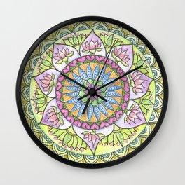 Lotus Growth Wall Clock