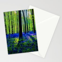 'Bluebells of the Rhode Island Spring' Landscape by Jeanpaul Ferro Stationery Cards