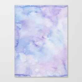 Mermaid Vibes - Purple Blue Ocean Splash Canvas Print