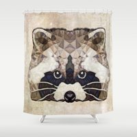 racoon Shower Curtains featuring Racoon by Ancello