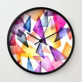 Textured Triangles Wall Clock