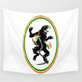 Black Panther Rastafarian Flag Wall Tapestry