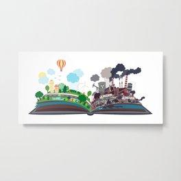 EcoBook Metal Print