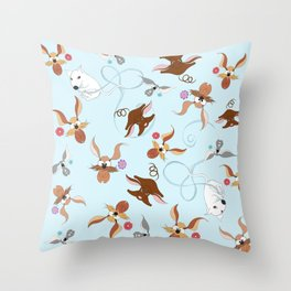 funny dogs for you Throw Pillow