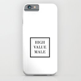 MGTOW - High Value Male iPhone Case