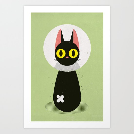 Bandage Cat Art Print