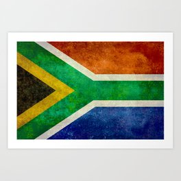Flag of the Republic of South Africa Art Print