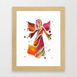 Colorful Angel Acrylic Abstract Painting by Saribelle Rodriguez Framed Art Print