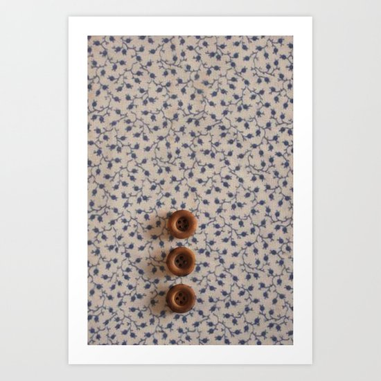 Button-On Floral Art Print